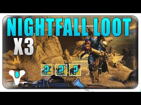 Destiny Nightfall Rewards - Destiny Weekly Nightfall Strike - Nightfall Rewards x3