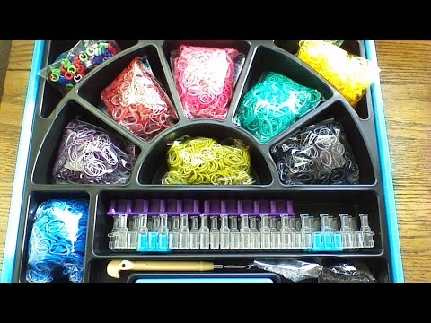 Unboxing the new Rainbow Loom Deluxe Kit plus Review!