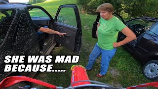 CRAZY FORESTER CHASE DIRT BIKES!! Forester Vs Angry Woman 2019