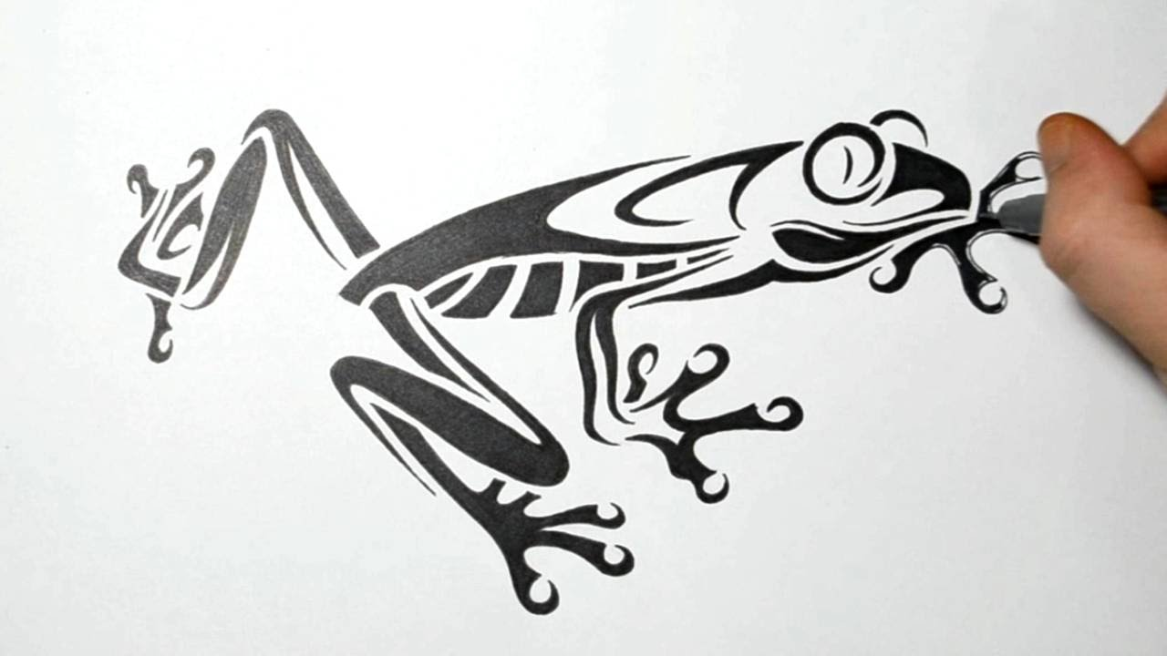 Realistic Tree Frog Drawings Drawing a Tree Frog - Tribal