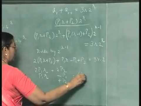 how to solve non homogeneous recurrence relation in discrete mathematics