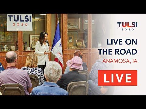Tulsi Gabbard LIVE on the road - Coffee & Toffee with Tulsi - Anamosa, IA