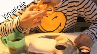ASMR Cafe【3D sound】正面ver.【Soft pretzel】注:咀嚼音