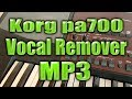 download lagu Korg pa700 - Vocal Remover from Mp3 gratis