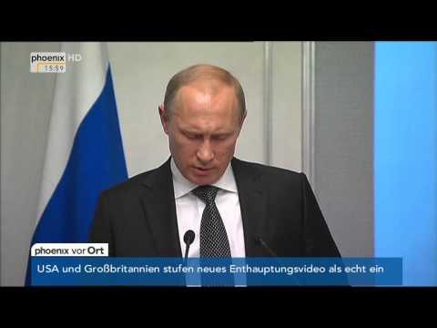 Ukraine-Krise: Wladimir Putin über einen Aktionsplan zur Lösung des Konflikts am 03.09.2014