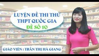 Đề thi thử THPT QG môn GDCD - cô Trần Thị Hà Giang