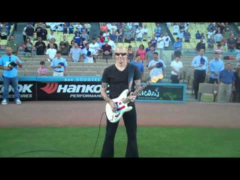 Gary Hoey National Anthem Dogers Stadium.mov