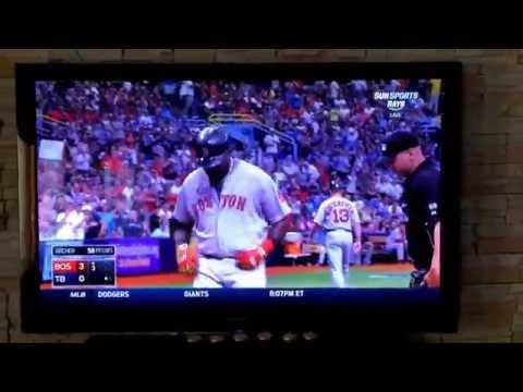 Big Papi David Ortiz 3run HR blast vs TB Ray