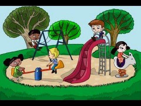 Видео как нарисовать детскую площадку