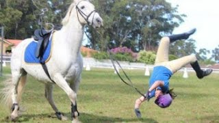 Horse Fall Compilation - Epic Equestrian Falls and Fails 2017 - Best Bad Horse Riding and Pony Fails
