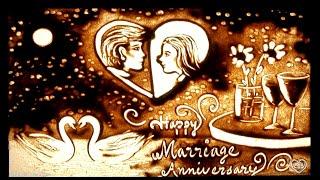 Happy Wedding / Marriage Anniversary Sand Art