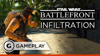 New Infiltration Mode Gameplay - Star Wars Battlefront Rogue One: Scarif DLC