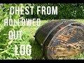 Woodworking and Blacksmithing - Chest from Old Hollowed out Log