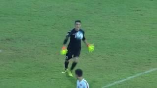 Uzbekistan goalkeeper Jasurbek Umrzakov scores from his own half in AFC U-16 Championship 2016