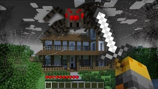 SCARY SPIDER APPEAR IN MY HOUSE IN MINECRAFT !! Minecraft Mods