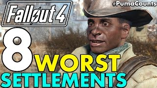 Top 8 Worst Settlement Locations in Fallout 4 (Includes DLC) #PumaCounts
