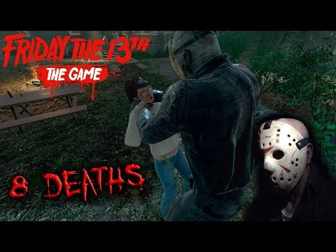 Friday the 13th the game - Gameplay 2.0 - Jason part 8 - 8 Deaths