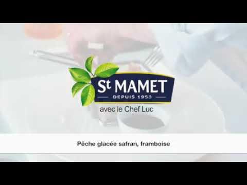 Crème glacée pêche safran
