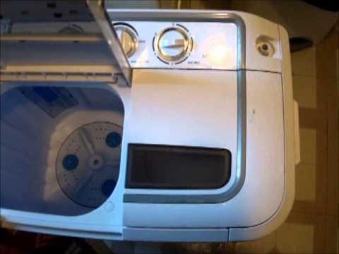 how to use the panda portable dual tub washing machine