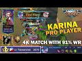 Pro Karina Player tz.Taiwanese Playing 4K++ Match with 91% Win Rate - Mobile Legends Top Player MP3