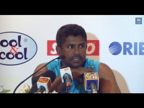 Rangana Herath talks to reporters - 2nd Test match Day 2 - Pakistan tour of Sri Lanka 2014
