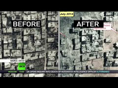 Satellite footage: Gaza destruction before & after Israel's bombs