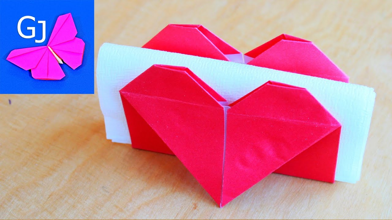Valentines Day Origami Flying Heart Origami  Easy