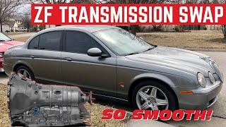 Installing A New TRANSMISSION In My $3,000 Jaguar S-Type R *IT SHIFTS*
