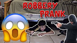Robbery prank on Little brother! 😵😨 **funny**