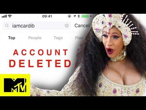 Cardi B Deletes Her Instagram Account | MTV News