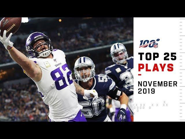 Top 25 Plays from November 2019 | NFL Highlights thumbnail