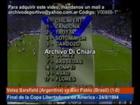 DiFilm - Velez Sarsfield vs San Pablo (1994)