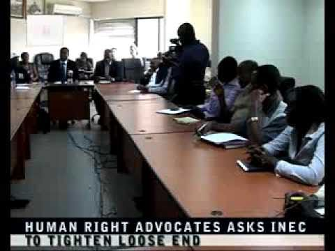 Human Right Advocates asks INEC to Tighten Loose end