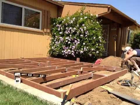 Building A Deck Close To Ground Level