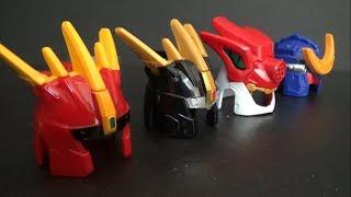 파워레인저 다이노포스 4대 로봇 장난감 변신 Power Rangers Dino Charge 4 Robot Toys Transformation