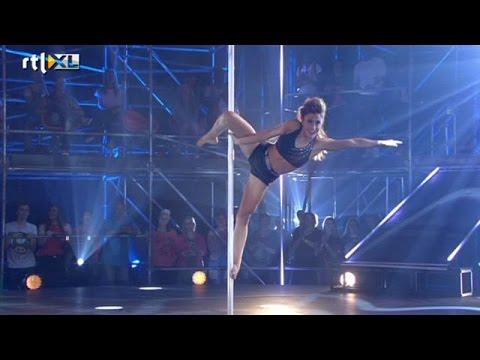 Optreden Dilan - Show 1 - CELEBRITY POLE DANCING