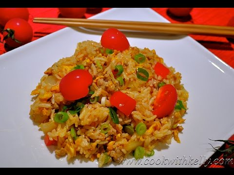 0 Tomato and Pork Fried Rice/蕃茄豬肉炒飯/Chinese Food, Cooking and Recipes