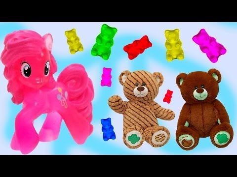 My Little Pony - Gummy Bear Craving - Pinkie Pie Twilight Sparkle Playdoh Maker Build A Bear video