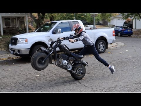 JERRY-RIGGING TORQUE CONVERTER ON MINI BIKE