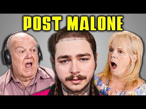 ELDERS REACT TO POST MALONE (Psycho, Rockstar, White Iverson)