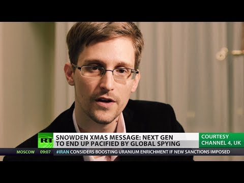'Orwell's 1984 a fairytale compared to reality': Snowden delivers Xmas message