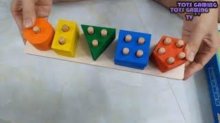 ❤ Toys Gaming TV ❤Trò Chơi Bé Xếp Hình Vào Cọc Gỗ