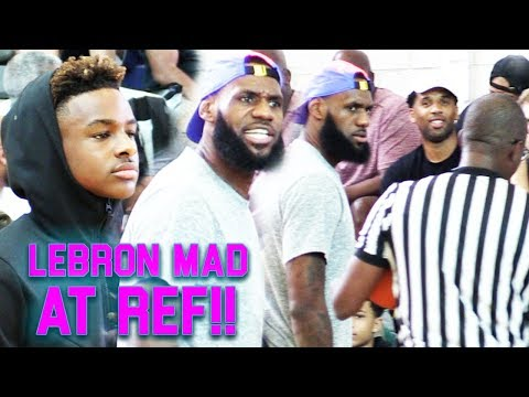 """COACH"" LEBRON JAMES GETS HEATED AT REF at ""HOODIE BRONNY'S"" GAME! HYPEST INTENSE GAME OF THE YEAR!!"