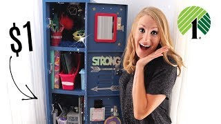 $1 *BOSS* DOLLAR TREE ORGANIZATION IDEAS FOR YOUR LOCKER 💚 2019