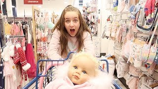 Shopping with Reborn Baby Doll at Marshalls | Buying Baby Supplies