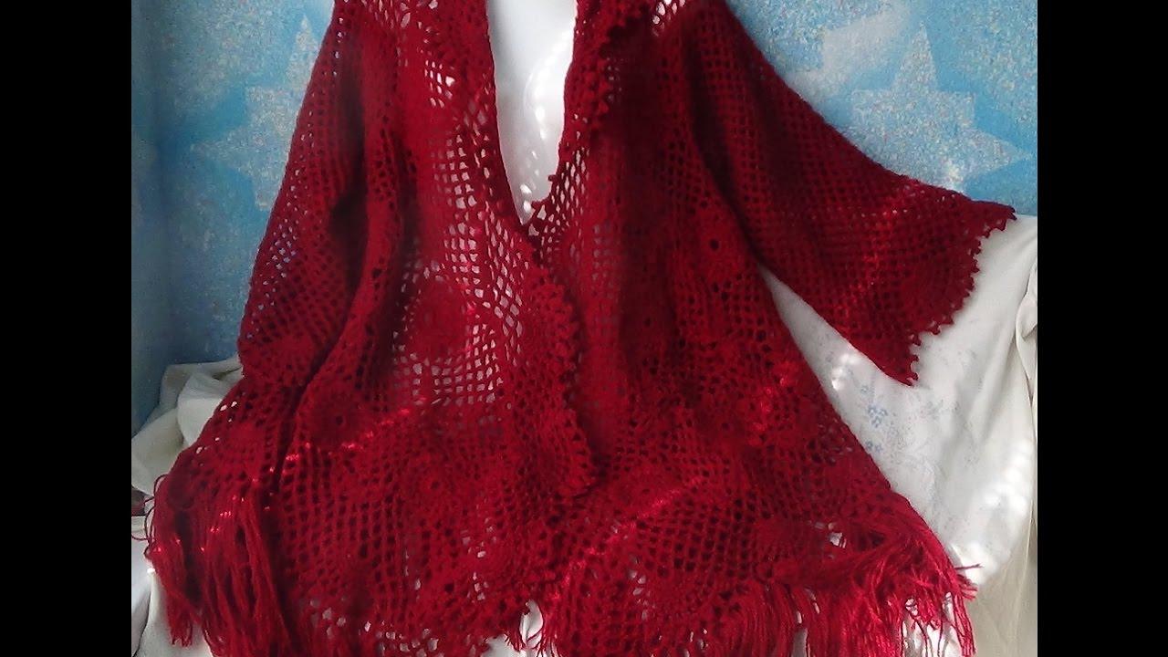 Вязание шалей со светланой берсановой 39