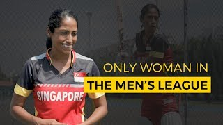 Only Woman In The Men's Cricket League