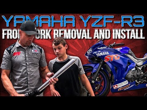 Yamaha R3 Front Fork Removal and Re-Install | Sportbike Track Gear