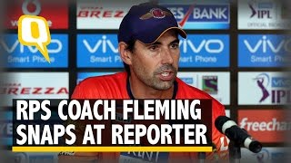 The Quint: Stephen Fleming Snaps at Reporters After Pune's 1-Run Defeat
