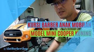 Jual Kursi Barber Anak Mobilan Model Mini Cooper Kuning Lisensi